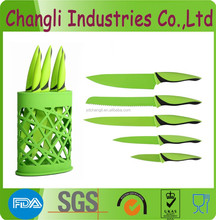 Hot sell non-stick kitchen coating knife set