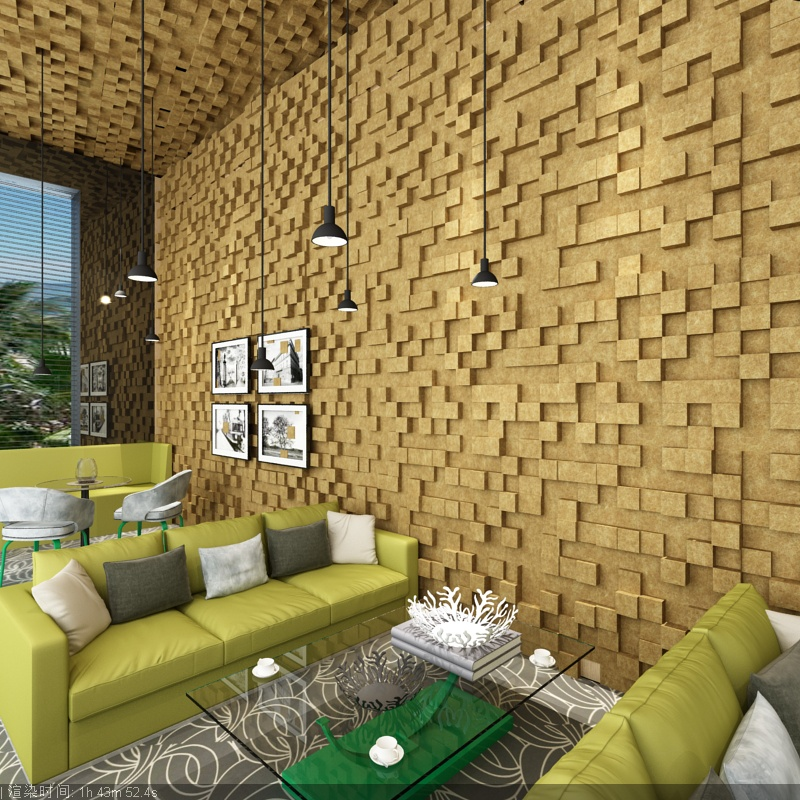 Decorative 3d wall panels Noise Insulation for Restaurant