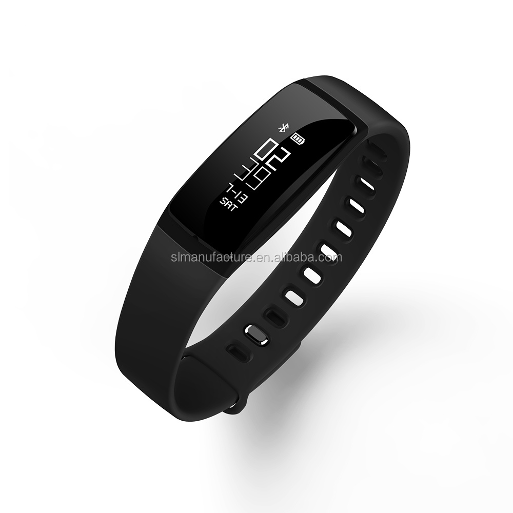 custom design fashion wristband waterproof bluetooth sport smart bracelet V07