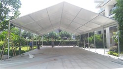 Easy to install car wash tent with large PVC marquee