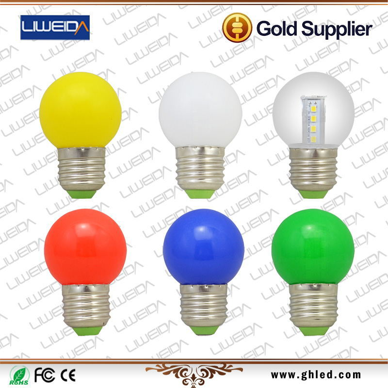 3W G45 5W G60 round led bulb light CRI82 colorful unique designed smd e27 led bulb with CE RoHS certificates