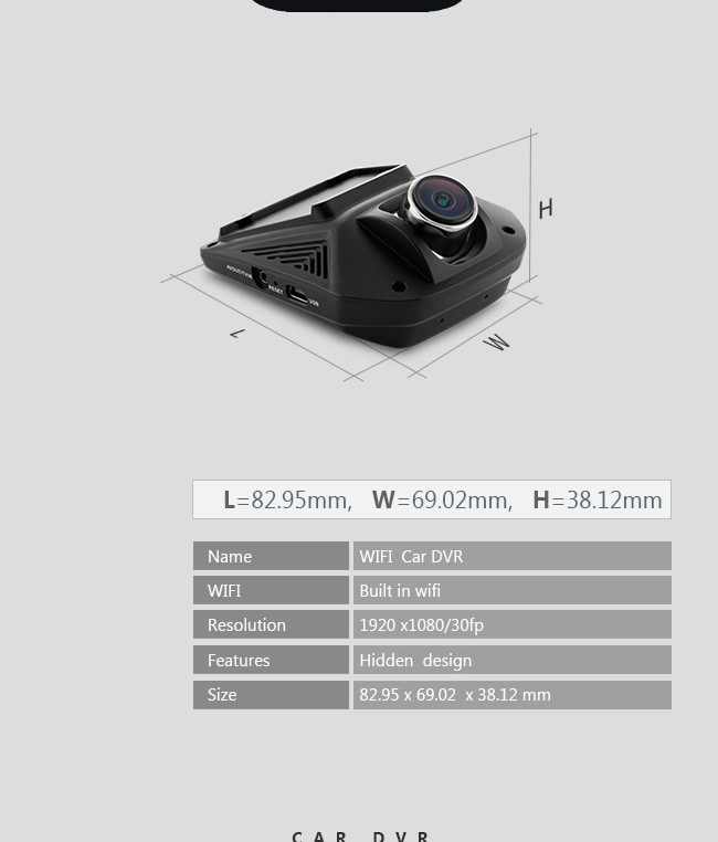 popular hidden design fhd 1080p wifi dual lens car dash cam user manual