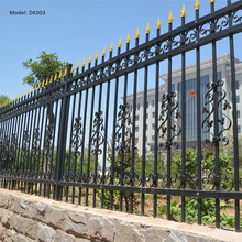American wholesale cheap Black powder coated security backyard metal steel picket fence