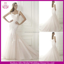 SD1385 sexy cheap light pink wedding dress lace mermaid pink beach wedding dresses