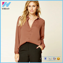 Yihao ladies design fashion blouses 2017 Office Shirt Work Wear Women's Tops