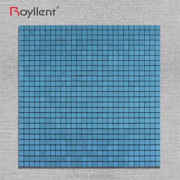 Blue Metal Mosaic tile Modern Kitchen Bathroom Interior Home Decoration Design Building Materials China Supplier RM201637
