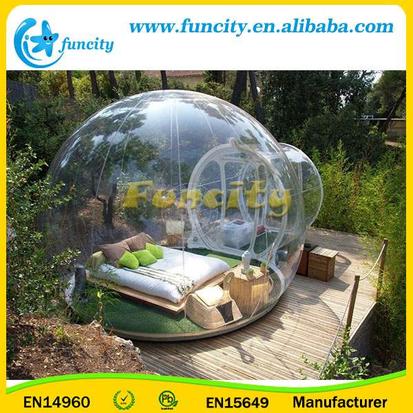 PVC Outdoor Nature Bubble Room Customized Clear Inflatable Bubble Tent With Blower