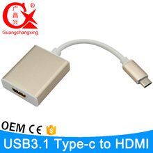 1080P USB 3.1 Type C to hdmi Supports UHD 4k Hdtv Adapter Cable