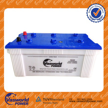 Super Hot sale JIS standard 12v 190ah dry charged car /bus/truck/tank battery