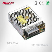 NES-35W output 12volt 3 amp power 35 Watt switching power supply with CE ROHS KC 3 years warranty