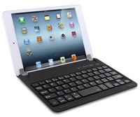 hot seller ABS chocolate key cap bluetooth keyboard with swivel holder for Ipad mini