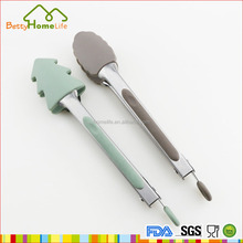 Fashional mini kitchen utensils stainless steel function of food tongs