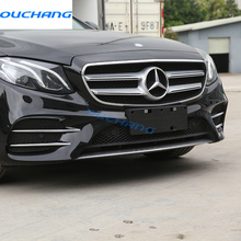 4pcs ABS Chrome Front Fog Lamp Cover Trim For Mercedes Benz E Class W213 E200 E300 2016 2017 E43 AMG Refit Car-Styling Accessory