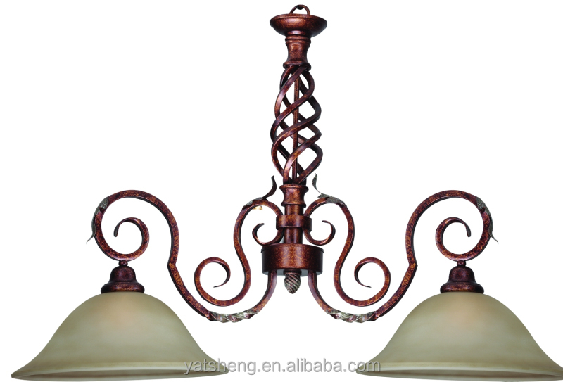 America style oi rubbed bronzel iron pendant lamp