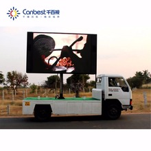 Steel Cabinet Mobile Advertising 6000 Nit Outdoor Creative P5 Pole Led Display