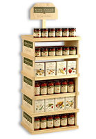 Solid wood standing royal honey display stand