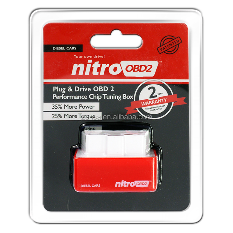 NitroOBD2 Economy Chip Tuning Box for Diesel Cars - Red