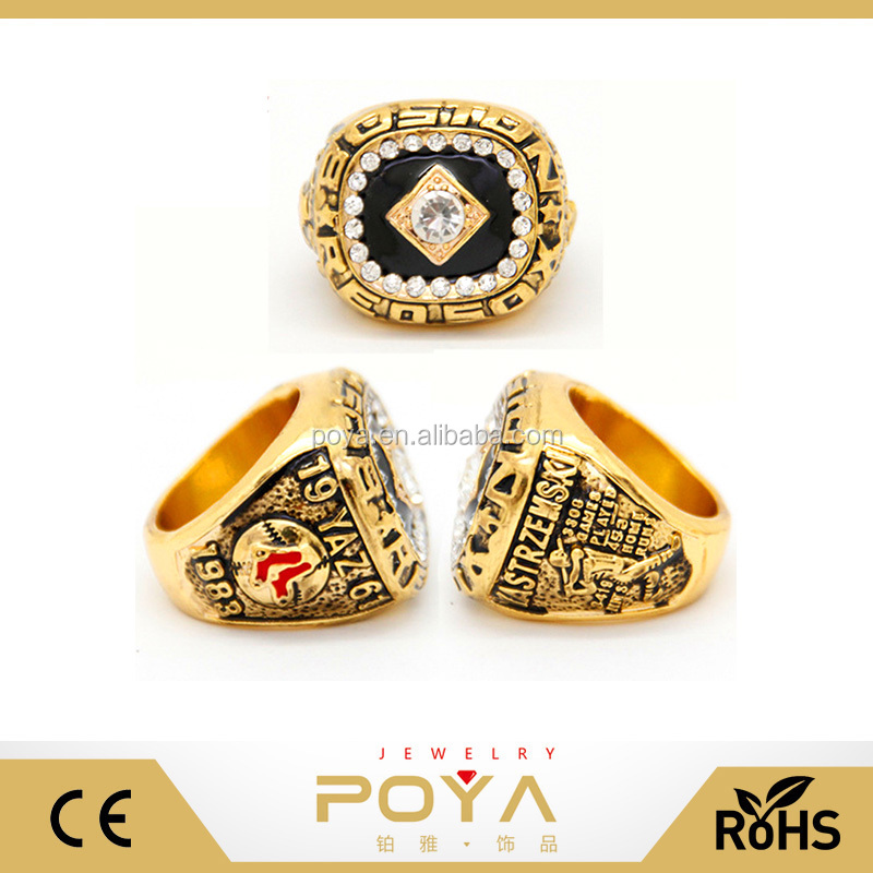 POYA Jewelry 1983 Boston Red Sox Replica Championship Ring,Baseball Fans Championship Ring, MLB Baseball Championship Rings