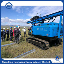 Construction machinery Vibratory Hammer Sheet Pile Driver for Solar power photovoltaic