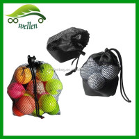 Manufacturers custom mesh ball drawstring bag, golf mesh drawstring pouch