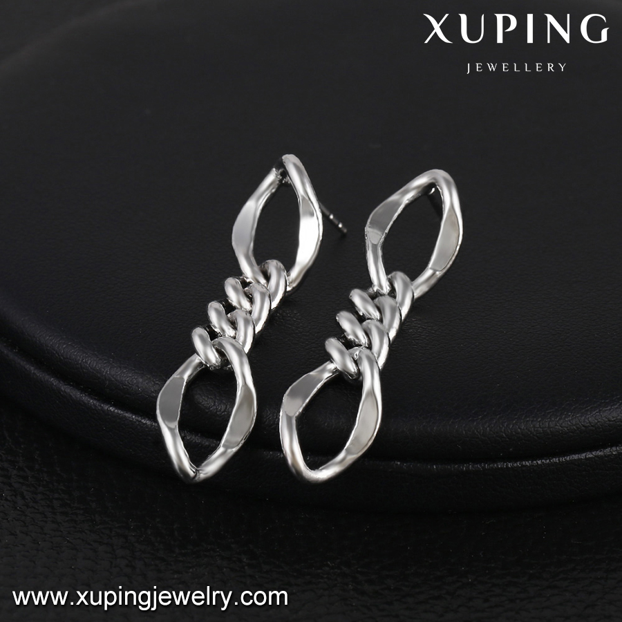 29031-custom jewelry wholesale simple chains earrings