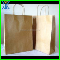 Yiwu New Arrived handmade plain kraft paper blank shopping bag strong Brown paper bags with handles