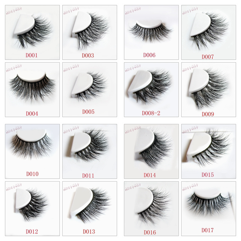 Milkyway 3D mink fur lashes 100% real siberian eyelashes hand made strip thick eyelashes extension with private label package