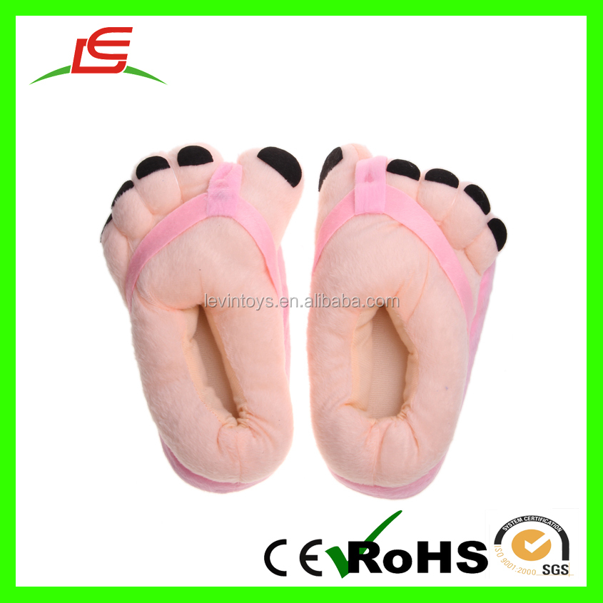 LE China Supplier Rice White Plush Foot Shoes For Household