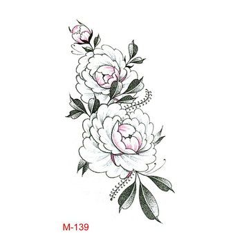 Flowers Printed Temporary Body Tattoo Stickers,Safe Temporary sticker tattoo