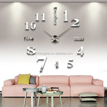 Christmas Promotion gift wholesale custom 3D DIY Decorative wall mounted clock with EVA Sticker