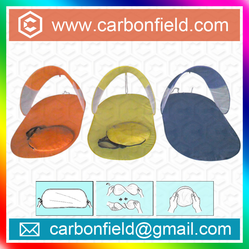 HOT SALE Cheap Nylon Foldable Beach Mat with Sunshade
