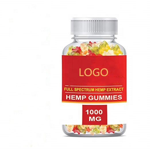 OEM Hemp Gummies bears For Pain, Stress & Anxiety Omega 3,6,9, Vitamin B,E Made in China