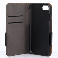 Hot sale & high quality PU leather wallet case for iphone 7