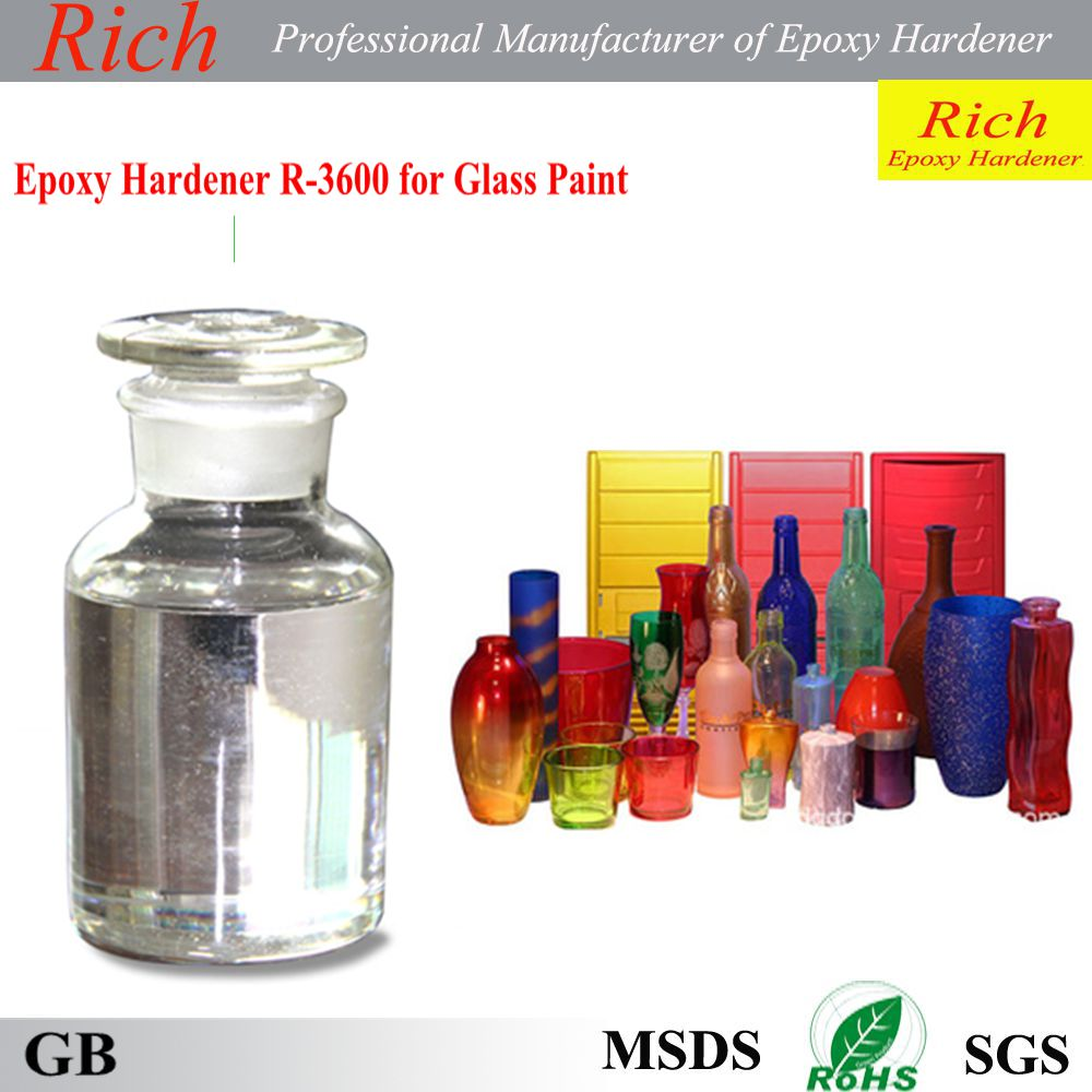Epoxy hardener for glass paint colorless and transparent liquid with competitive price