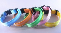Wholesale cheap fashion USB rechargeable colorful LED Dog Collar for walking dog