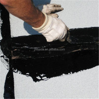 rubber asphalt waterproofing paint coating black color high elastic waterproof coating weathering resistance