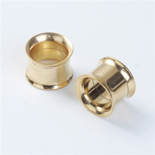 10mm Stainless Steel Stretcher Expander Bobbin Gold Plated Ear Taper Expanders