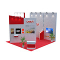 Detian offer portable expo stand for trade show exhibition, modular island exhibition expo booth