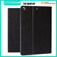 city&case silk grain fabric leather case for ipad air 5