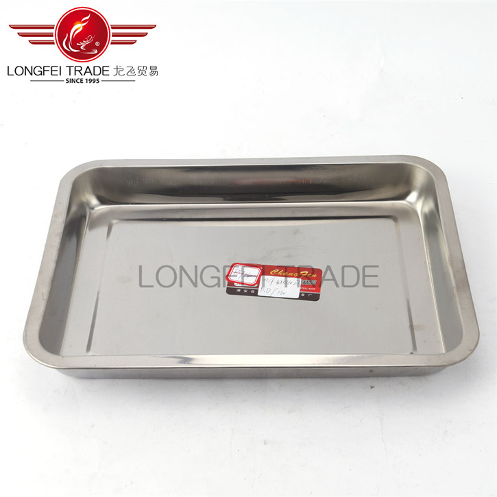 china new innovative product stainless steel square tray of china