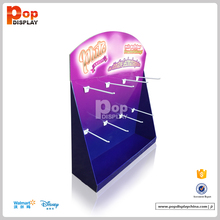carton counter cardboard display stand solution with hooks for candy promotion