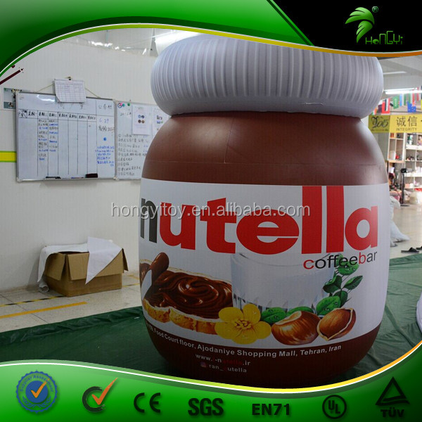 Giant Inflatable Chocolate Sauce Bottle Balloon Advertising Inflatable Hazelnut Sauce Jar