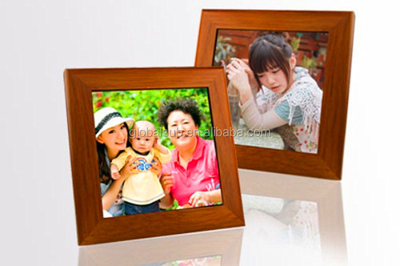 sublimation blank ceramic tiles wooden frame hoarding photo frames