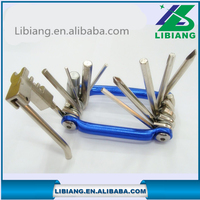 High quality portble multifuction bicycle repair tool kits in one production