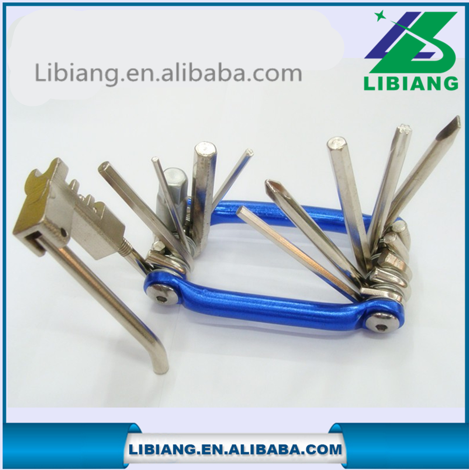 High quality portble multifunction bicycle repair tool kits in one production
