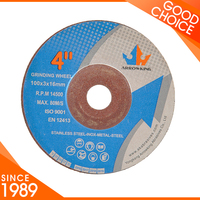 4 inch cutting disc/wheel/cut off wheel and grinding wheel for metal
