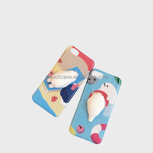 2017 New Arrival 3D Cute Soft Silicone Pinch Squishy Sea Lion Phone Case TPU Back Covers For Iphone