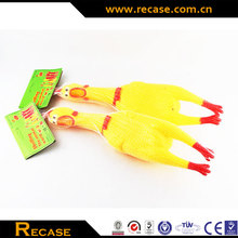 promotional plastic shrilling chicken toy for kids shrilling chicken