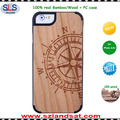 2016 laser engraving bamboo wooden laptop cases for macbook laptop iphone 6s 7 IPC337H