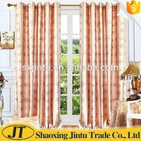 Luxury new design printed 100% polyester home decoration curtain